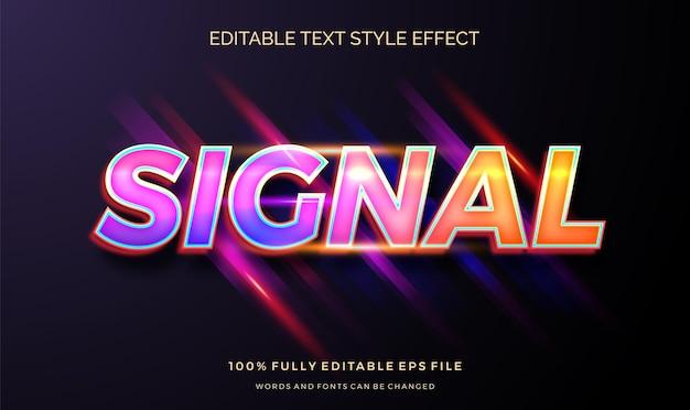 Znak z efektem edytowalnego tekstu w żółtym świetle