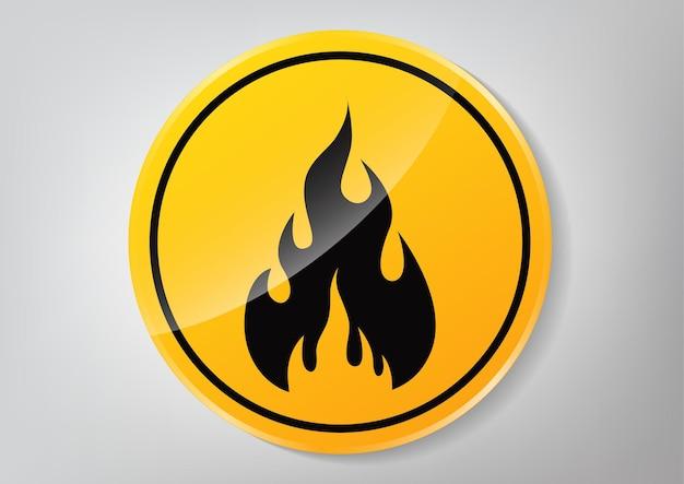 Znak zagrożenia pożarowego