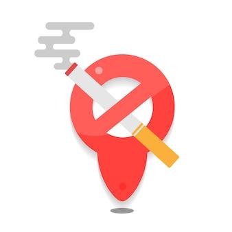 Znak zakazu palenia. brak ikony dymu. rzucić palenie symbol.