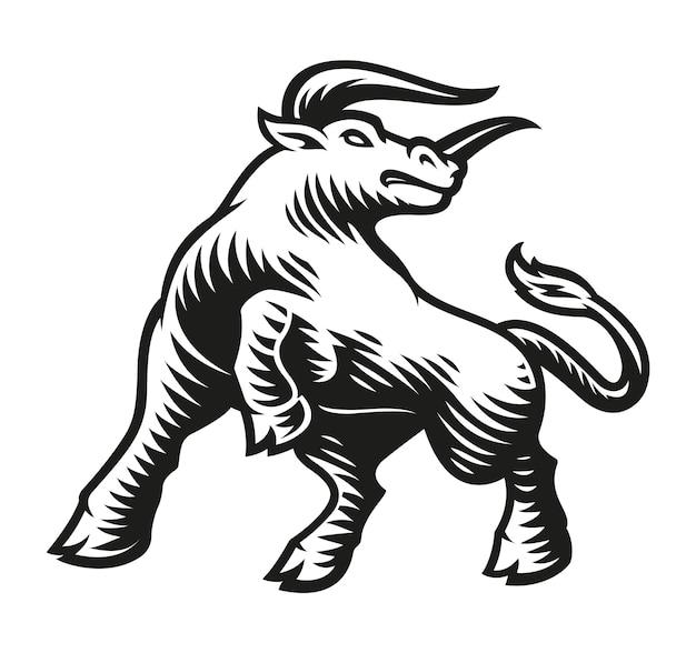 Znak zodiaku byk na białym tle