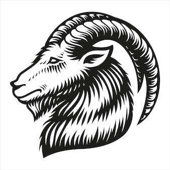 Znak zodiaku koziorożec na białym tle