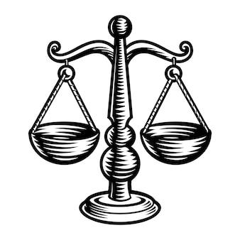 Znak zodiaku libra na białym tle