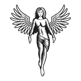 Znak zodiaku panna na białym tle