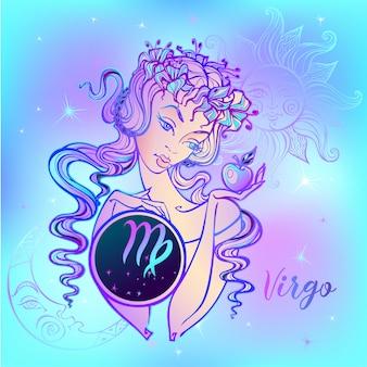 Znak zodiaku panna piękna dziewczyna
