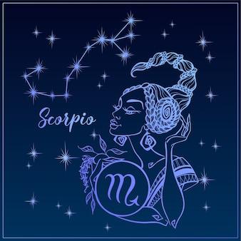 Znak zodiaku skorpion jako piękna dziewczyna.