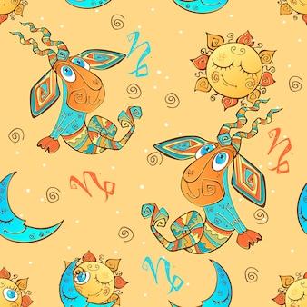 Znak zodiaku wzór koziorożca