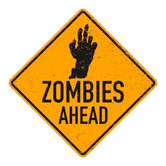 Znak zombie z przodu.