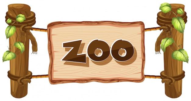Znak zoo na białym tle