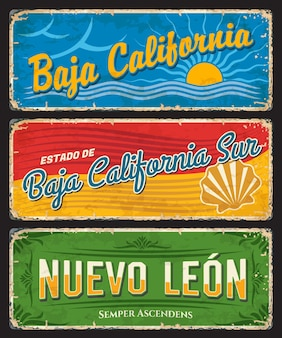 Znaki blaszane baja california, baja california sur i nuevo leon