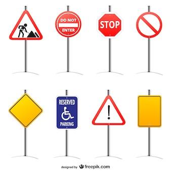 Znaki drogowe grafiki wektorowej