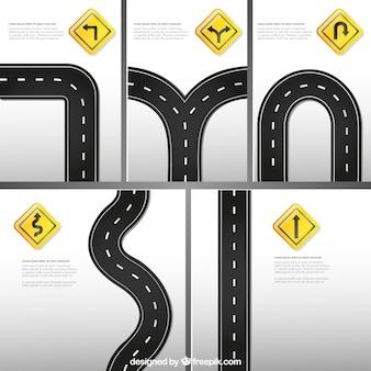 Znaki drogowe szablon
