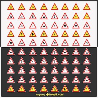 Znaki drogowe wektor szt.