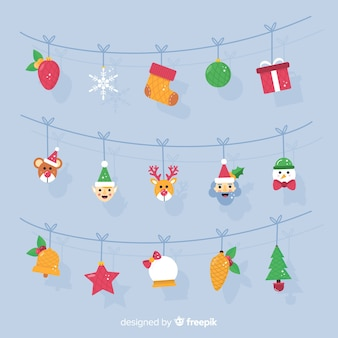 Znaki garland christmas background
