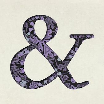 Znaki interpunkcyjne ampersand w czcionce retro