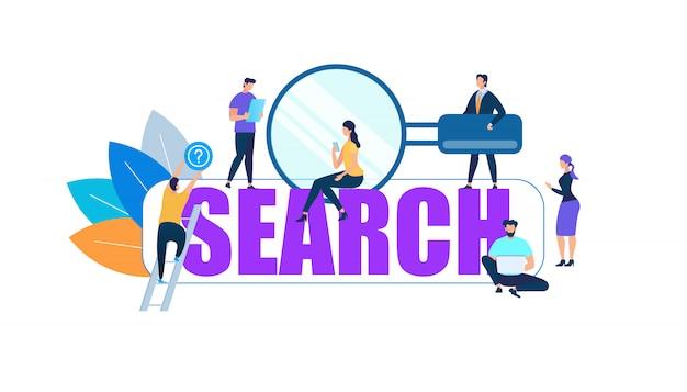 Znaki ludzi wokół big purple word search