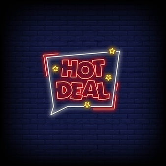 Znaki neonowe hot deal