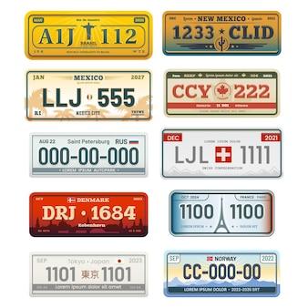 Znaki rejestracyjne ustawione na białym tle