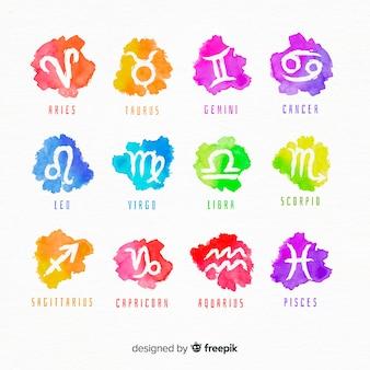 Znaki zodiaku akwarela