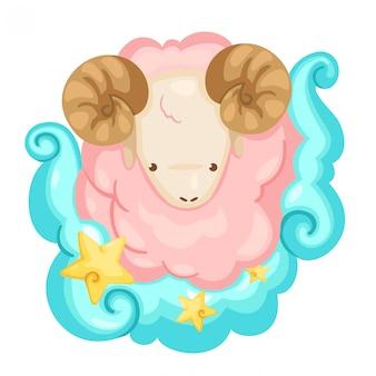 Znaki zodiaku - baran wektor ilustracja