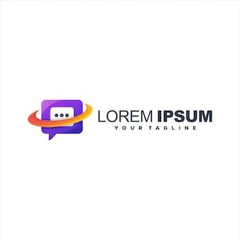 Znakomite gradientowe logo czatu