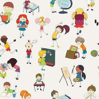 Znakomity wzór z ręcznie rysowane studentów