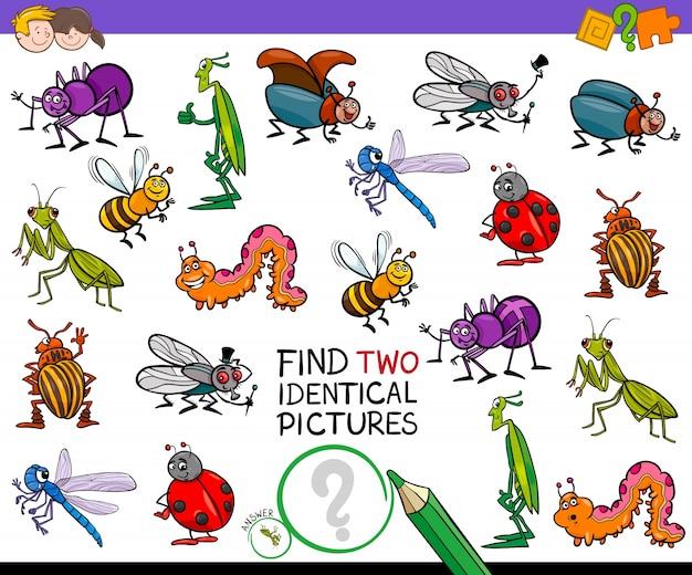 Znaleźć dwie identyczne gry z kreskówek dla dzieci