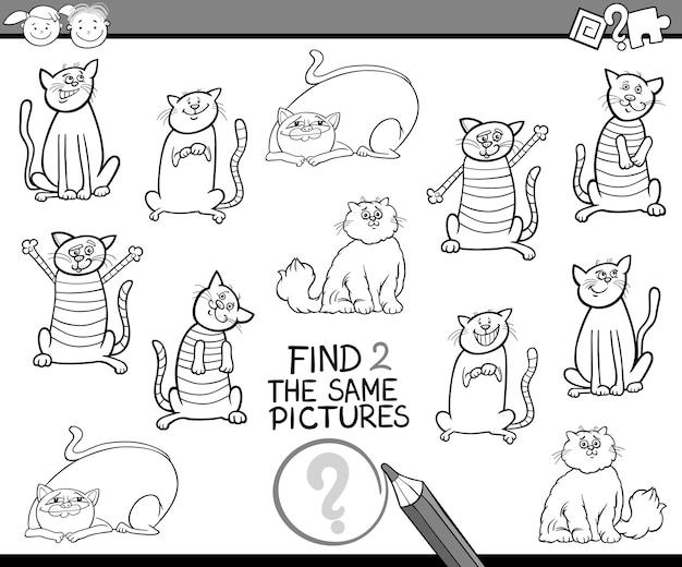 Znaleźć tę samą grę kolorowanki zdjęcia