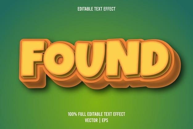 Znaleziono edytowalny efekt tekstowy w stylu retro