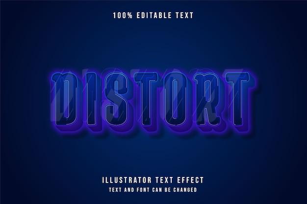 Zniekształcenie, edytowalny efekt tekstowy 3d.