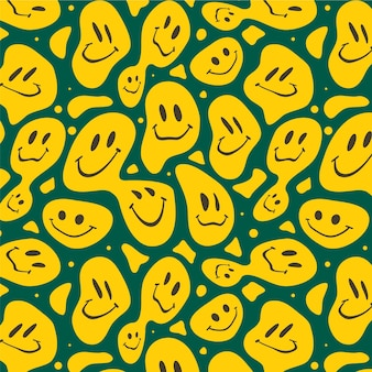 Zniekształcony wzór przerażających uśmiechów