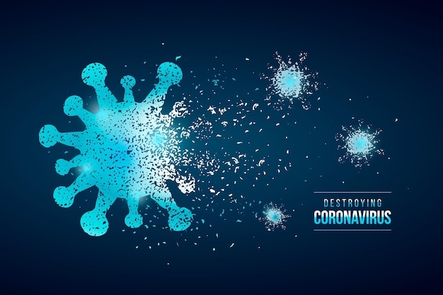 Zniszczenie stylu tła koronawirusa