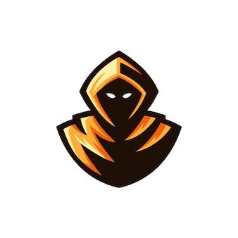 Żniwiarz logo maskotka ilustracja