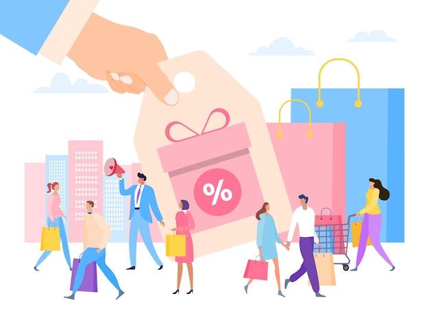 Zniżka Handlowa Dla Klientów Płaskich Premium Wektorów