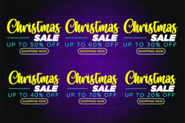 Zniżka na wyprzedaż świąteczną oferuje premię za tekst neonowy - przycisk sprzedaży świątecznej