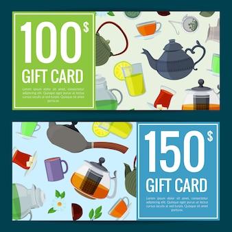 Zniżki na czajniki, karty do picia herbaty