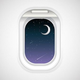 Zobacz na zewnątrz z okna samolotu