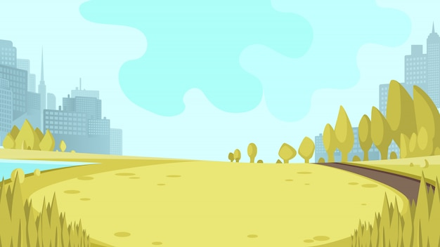 Zobacz panorama city park centre big metropolis
