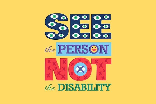 """Zobacz plakat """"osoba nie niepełnosprawna"""""""
