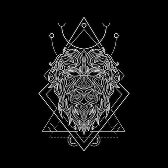 Zodiak leo geometri style