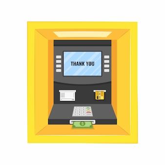 Żółta bankomat