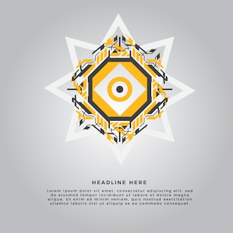Żółta geometria abstrakcyjny element projektu
