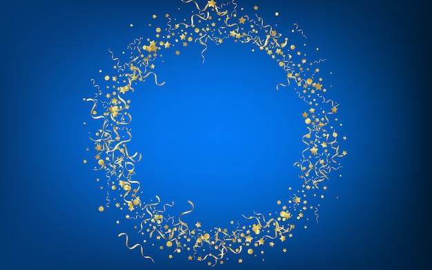 Żółta Gwiazda Latająca Niebieskim Tle Premium Wektorów
