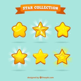 Żółta paczka gwiazd