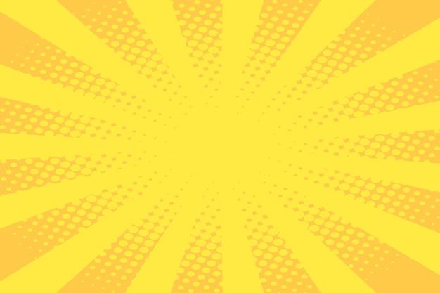 Żółta przestrzeń projektowa z efektem kreskówek
