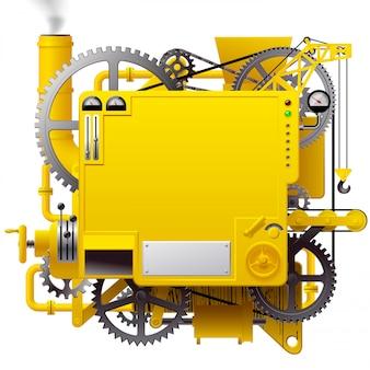 Żółta, skomplikowana fantastyczna maszyna