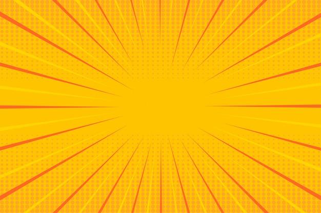 Żółta tapeta półtonów pop-artu