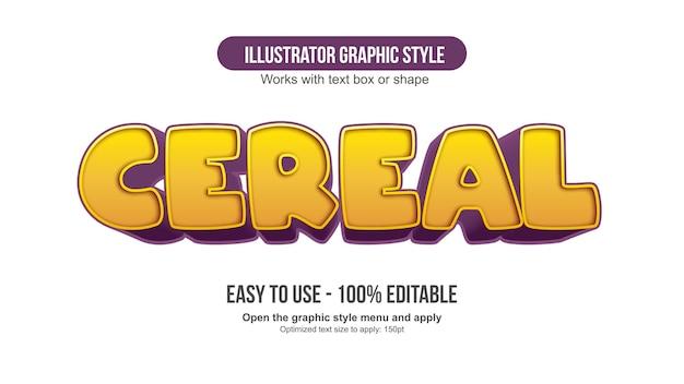 Żółta typografia kreskówek 3d