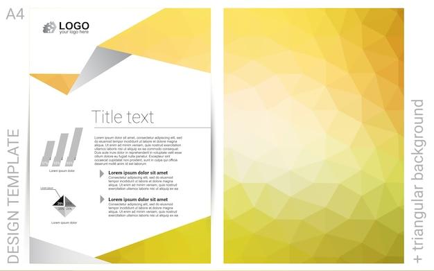 Żółta wektor okładka do koperty