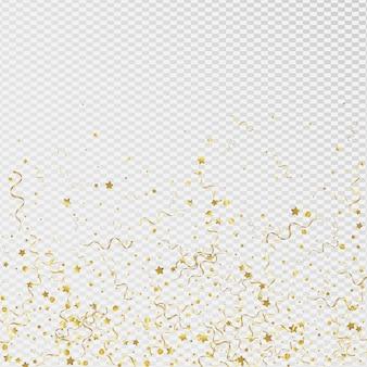 Żółta wstążka uroczysty przezroczyste tło