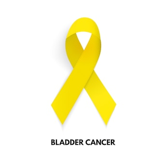 Żółta wstążka. znak raka blaszkowatego. ilustracja wektorowa eps10